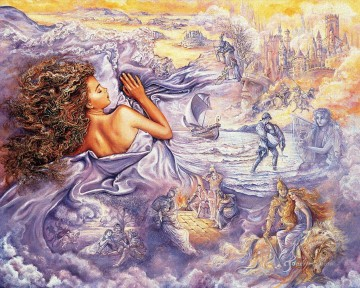 JW lilac dreams Fantasy Oil Paintings